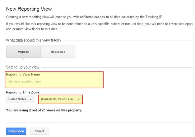 Google Analytics View Set Up