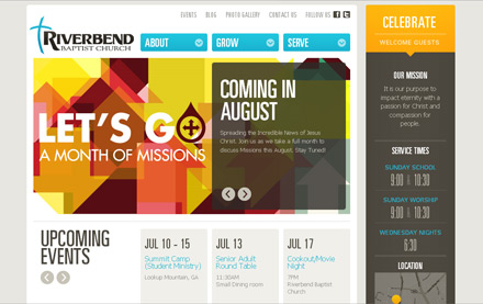 Riverbend Baptist Church Website - Web Design & Internet