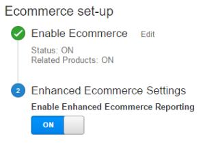 Enhanced Ecommerce Admin