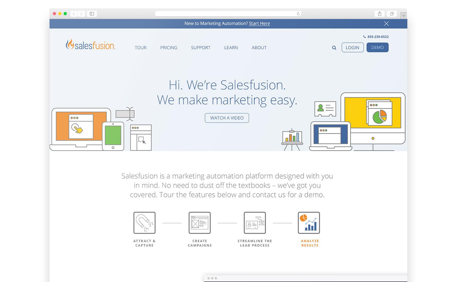 Salesfusion website