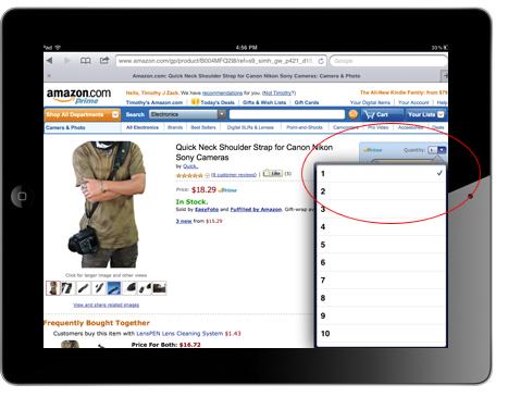 Optimize Ecommerce website for iPad