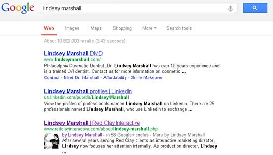 google authorship example